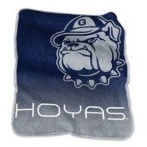 Georgetown Hoyas Jack bulldog throw blanket